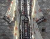 Gypsy vintage dress, tribal tunic, Indian dress, Mexican, kaftan, costume, Balochi dress, Afghani dress, vintage dress [No.4]