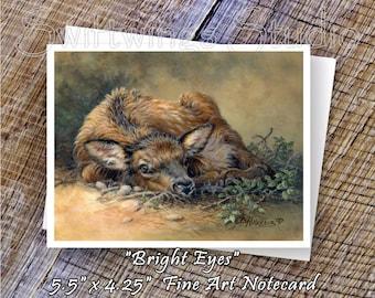 Elk Note Cards - Wildlife Note Card - Western Wildlife Art - Baby Elk Print - Southwestern Note Cards - Elk Prints