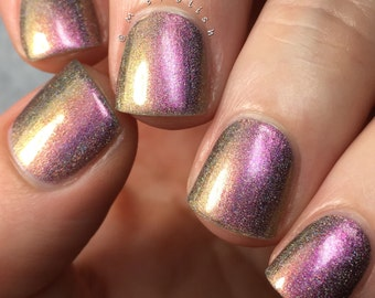 Living Doll - Multi Chrome Chameleon - Linear Holographic - Fuchsia Pink Copper Green Nail Polish