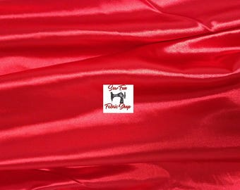 Red Super Heavy Lycra . . . Nylon Stretch Fabric...great for costumes, dance, theater, formal wear, pageant.