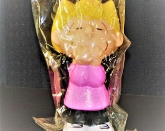 "1984 Peanuts ""Sally"" Vinyl Squeak Dog Toy"