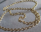 Vintage  Gold Link Chain with O Closure, Well Made Gold Link 24 INCH Chain, Not Lighweight Gold Chain, Gift For Her, Birthday