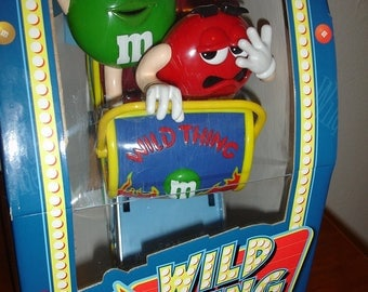 Vintage M&M's Candy Dispenser - Wild Things Roller-Coaster - Limited Edition ..FREE shipping!!