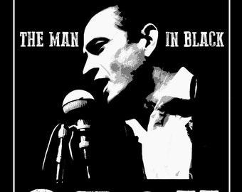 "Johnny Cash ""Man in Black"" Poster Print"