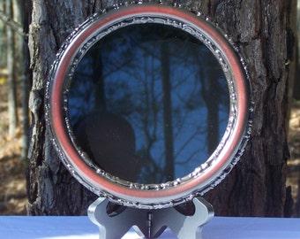 Round Black/Cherry Scrying Mirror 7 inch Round