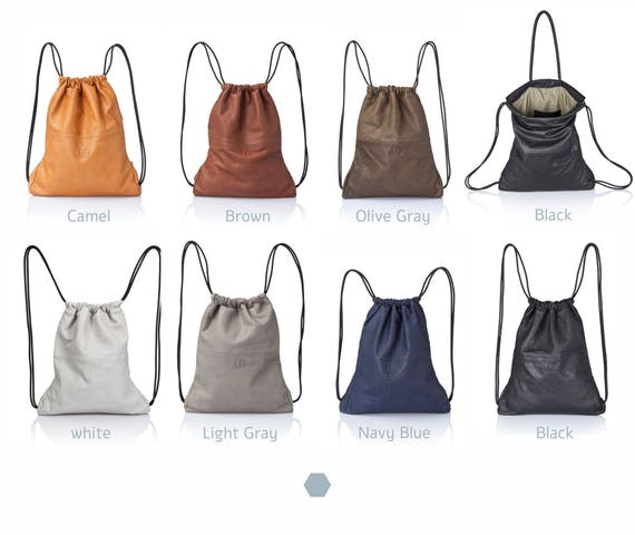 Soft Leather Backpack Handbags