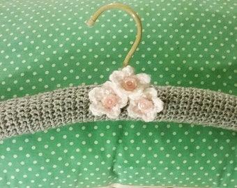 Crocheted coat hanger