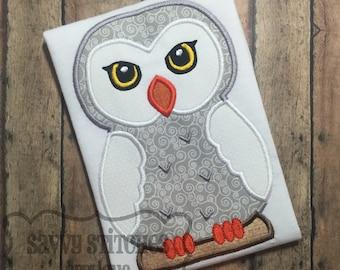 Magical Owl Machine Embroidery Applique Design