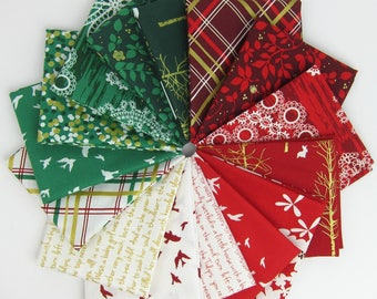 Christmas at Brambleberry Ridge Fat Quarter Bundle by Violet Craft - 15 Fat Quarters - 3.75 Yards Total