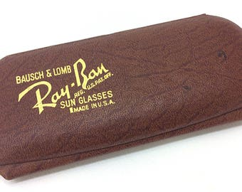 Vintage Bausch & Lomb Ray Ban Sunglasses Case Made In USA