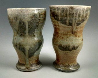 Two wood-fired cups/tumblers.   Free shipping to lower 48 States.    #2.