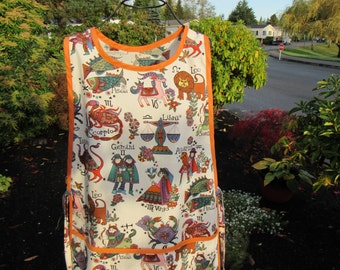 Whimsical Astrological Signs on Cobbler Apron
