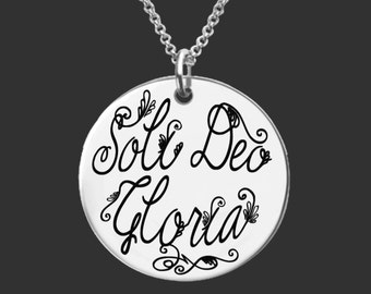 Soli Deo Gloria | Inspirational | Christian Gifts | Faith Gifts | Gift for a Friend | Personalized Gifts | Korena Loves