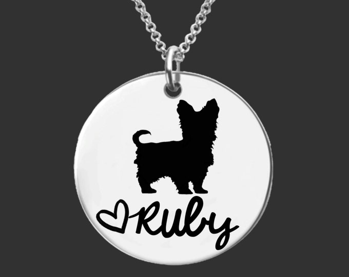 Yorkshire Terrier Necklace | Yorkshire Terrier Jewelry | Personalized Dog Necklace | Personalized Gifts | Korena Loves