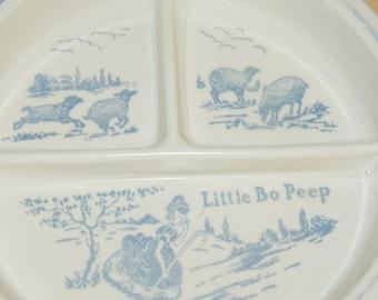 Little Bo Peep and her Sheep Old Baby Feeding Dish