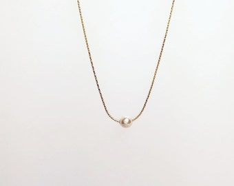 Pearl Necklace Choker Perfect for Bridesmaids and Flower Girls Gold Filled