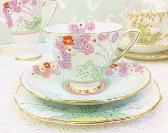 Royal Stafford Pastel Pink Tea Trio,