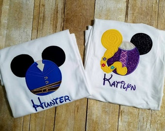Rapunzel and Flynn Inspired Disney Mouse Shirts for Children or Adults