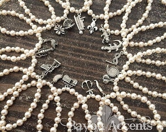 Wedding Cake Pull Stretchy Bracelets with Swarovski Pearls