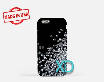 Diamond iPhone Case, Precious iPhone Case, Diamonds iPhone 8 Case, iPhone 6s Case, iPhone 7 Case, Phone Case, iPhone X Case, SE Case New