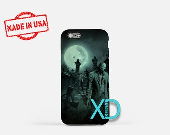 Zombie iPhone Case, Graveyard iPhone Case, Zombie iPhone 8 Case, iPhone 6s Case, iPhone 7 Case, Phone Case, iPhone X Case, SE Case