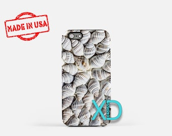 Seashell iPhone Case, Beach iPhone Case, Ocean iPhone 8 Case, iPhone 6s Case, iPhone 7 Case, Phone Case, iPhone X Case, SE Case New