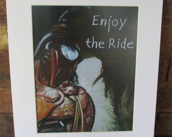 "Enjoy the Ride | horse | 11""x14"" mat 