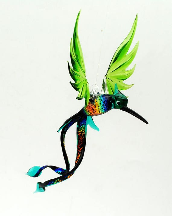 e36-701 Green Double-Tail Hummingbird with Dichroic