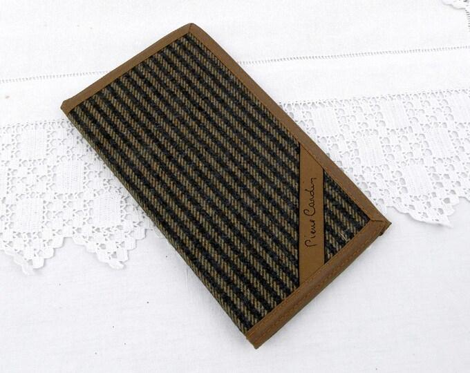 Vintage Unused Tweed Pierre Cardin Designer Card Case and Diary, Retro, Vintage, Wallet, Organizer, Men's Wear, Gift, Credit Card, Date