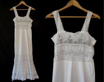 2nd Payment - RESERVED - ON LAYAWAY Antique French Lace Nightgown - 1910s