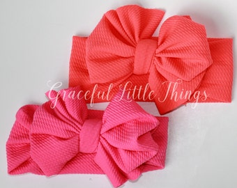 Neon Bow Headwraps