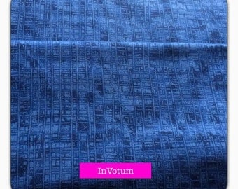 Cotton fabric shade, graphical pattern in blue, 50 cm
