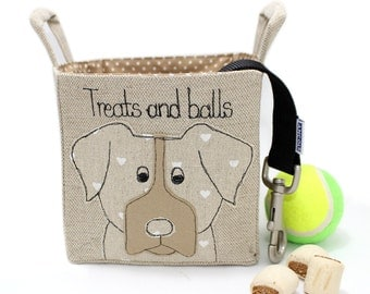 Dog Toy Basket, puppy toy basket, dog toy storage, dog toy bin, pooch gift, dog treats basket, dog gift, new puppy gift