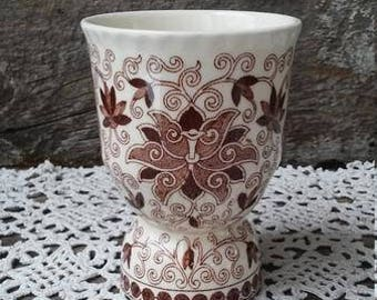 Masons Bow Bells Egg Cup, Brown Transferware, Aesthetic Movement, Brown Toile, English Transferware, Serving Cup, Ironstone Egg Holder