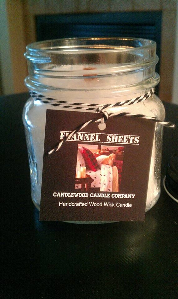 FLANNEL SHEETS - New Fire & Ice Flannel Sheets Wood Wick Candle 9.6 oz
