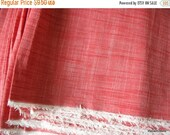 "Flat 40% off 57"" Wide Yarn Dyed Reddish Pink Chambray Fabric by Yard"