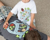 Dads Father's Day Gift from Boys -FREE Priority- Ship Race Car Track Shirt Car Lover Matchbox Dad's Back Back Massage Shirt