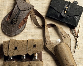 Butterick B5936 Gauntlet, Water Bottle Carrier and Pouches Historical Accessories Costume Sewing Pattern