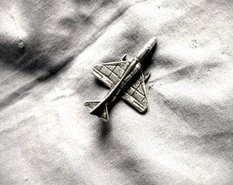 A-4 Skyhawk, Jet Plane Pin, Handmade, Lead Free, Pewter Gray Finish
