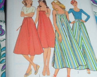 Vintage 70s Style 1858 Misses Skirts or Dresses in Two Lengths  Sewing Pattern - Size 8 or Size 10 or Size 14 or Size 16