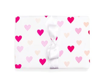 Wrapping Paper Hearts 3 Sheets 50 x 70 cm