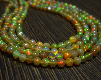 "AAA Ethiopian Welo Opal Smooth Round Beads-16"" Strand -Stones measure- 2.50-3.50mm"
