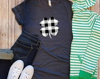 T shirt, Lucky, St Patrick's Day, Shamrock, Clover, women's, birthday, gift