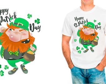 St. Patrick t-shirt, Leprechaun, irish