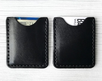 Card Holder Wallet, Leather, Personalized - BUY IT ONCE - Mens or Womens Wallet with Personalized Initials - Slim, Thin Front Pocket Wallet