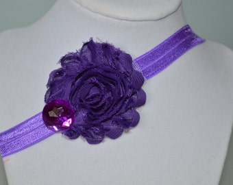Pink and Purple Infant Headbands