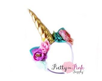 Unicorn DIY Kit #341-  DIY Kit- Unicorn Headband- Kit- Rainbow Headband- Unicorn Headband