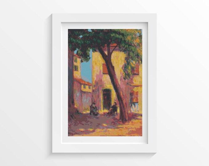 Landscape from Saint Tropez Cross Stitch Pattern PDF by Nicolae Darascu (DARAS04)