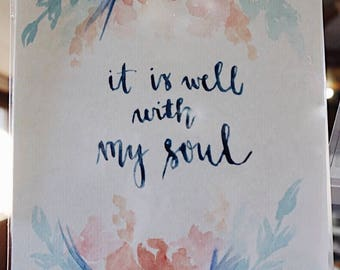 It Is Well With My Soul Watercolor Stationery Set