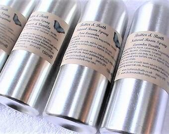 Lavender Vanilla Room Spray, Relax Aromatherapy Mist, Natural Room Fragrance, Lavender Vanilla Linen Spray & Air Freshener 150ml / 5.25 floz
